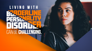 Woman living with borderline personality disorder